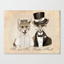 Mr. and Mrs. Thaddeus Merrill Canvas Print