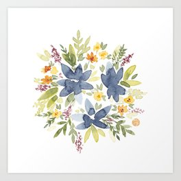 Watercolor Floral Bouquet Art Print