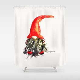 Christmas Swedish Gnome Shower Curtain