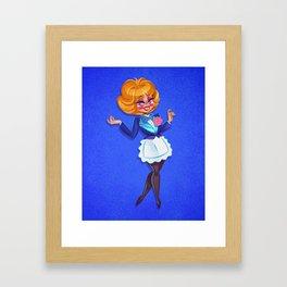 Kitchen Cabaret - Bonnie Appetite Framed Art Print