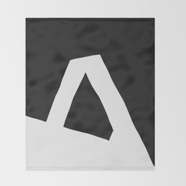 """A"" Statement Throw Blanket"
