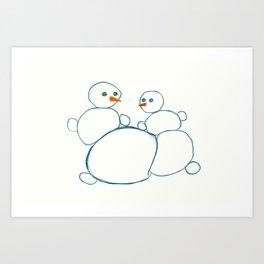 winter love Art Print