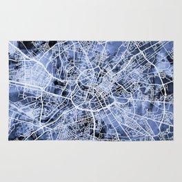 Manchester England City Street Map Rug
