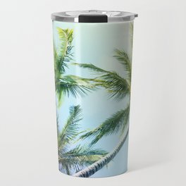 Relaxing Rainbow Color Palms Travel Mug
