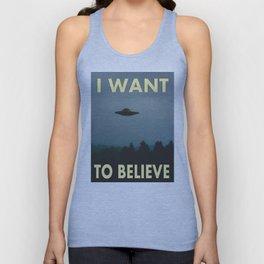 I want to believe Aliens Unisex Tank Top