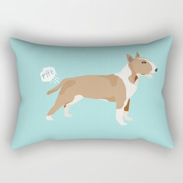 Bull Terrier fawn dog breed funny dog fart Rectangular Pillow