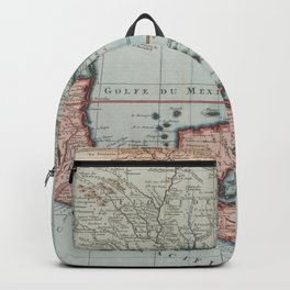 Vintage Map of The Gulf of Mexico (1732) Backpack