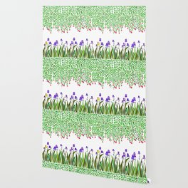 A Colorful Garden of Iris and Trumpets, Hanging Garden Wallpaper