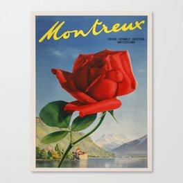 Vintage poster - Montreux, Switzerland Canvas Print