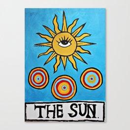 TAROT: THE SUN. Canvas Print