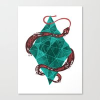 crystal Canvas Prints featuring Mystic Crystal by Hector Mansilla