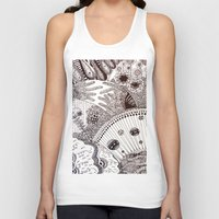 zentangle Tank Tops featuring Zentangle by Marisa Toussaint