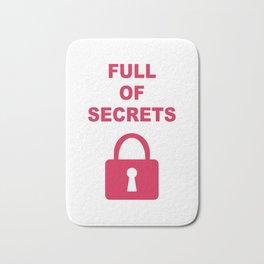 Full of Secrets Lock Bath Mat