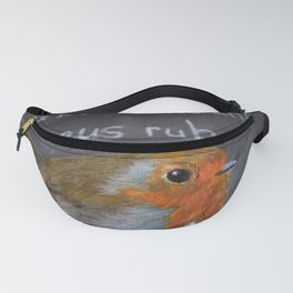 English Robin Painting Fanny Pack