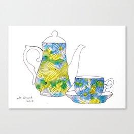 swirls - teapot  Canvas Print
