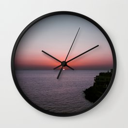 Sunset over Forio Wall Clock