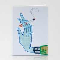 cigarette Stationery Cards featuring Cigarette by Grant Czuj
