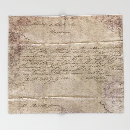 July 1820 Throw Blanket