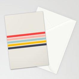 Naomori - Classic Minimal Retro Stripes Stationery Cards