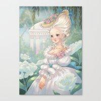 marie antoinette Canvas Prints featuring Marie-Antoinette by Pich illustration