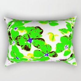 Floral Easter Egg Rectangular Pillow