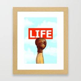kick life back Framed Art Print