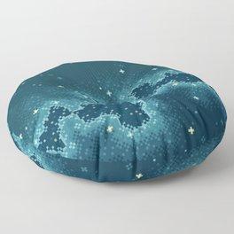 Northern Skies II Floor Pillow