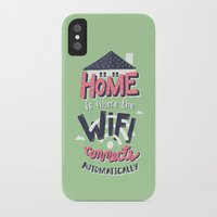 risa rodil iPhone & iPod Cases featuring Home Wifi by Risa Rodil