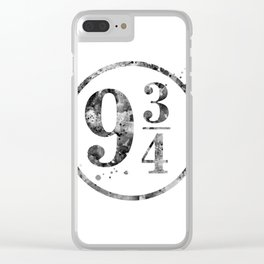 9 3/4 Clear iPhone Case