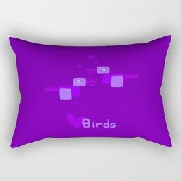 Love Birds-Purple Rectangular Pillow