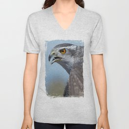 Northern Goshawk Screeching Unisex V-Neck