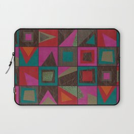 squares of colors and shreds Laptop Sleeve
