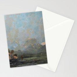"Gustave Courbet ""Lake Geneva (Le Lac Léman - La Dent du midi)"" Stationery Cards"