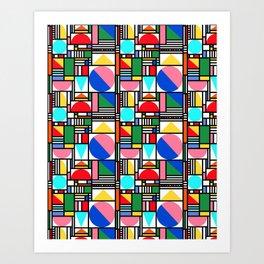 Bauhaus Village Art Print