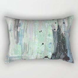 Bleu grey Abstract Rectangular Pillow