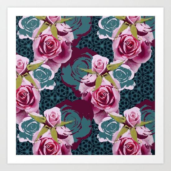 Modern Baroque Rose Art Print