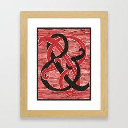 Infinite Ampersand Framed Art Print
