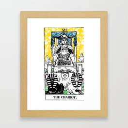 Floral Tarot Print - The Chariot Framed Art Print