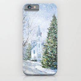 Christmas in Harbor Springs iPhone Case