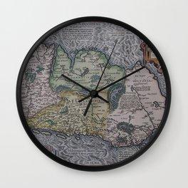 Vintage Map of Ireland (1592) Wall Clock