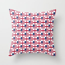Mix of flag : Usa and england Throw Pillow