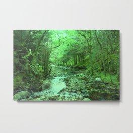 River Green Metal Print