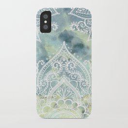 MANDALA ON MARBLE iPhone Case