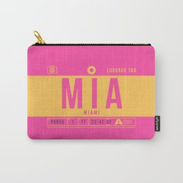 Luggage Tag B - MIA Miami USA Carry-All Pouch