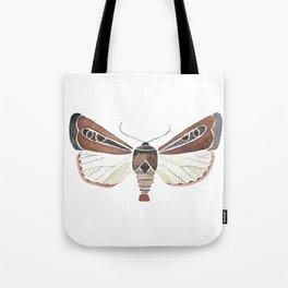 Brown Moth Tote Bag
