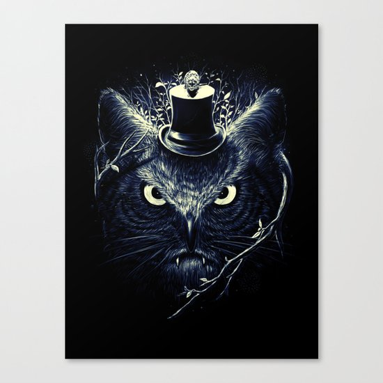 Meowl (Blue) Canvas Print
