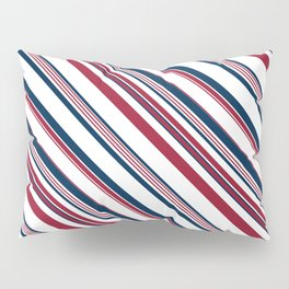 Red and Blue Stripes Pillow Sham
