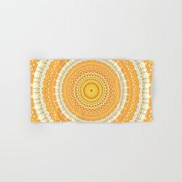 Marigold Orange Mandala Design Hand & Bath Towel