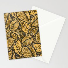 Summer Leaves Gold Stationery Cards
