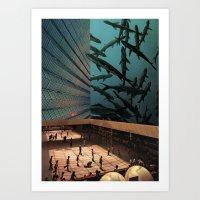 aquarius Art Prints featuring Aquarius by David Delruelle